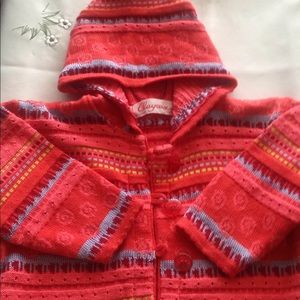 CLAYEUX- Toddler girl's sweater hoody size 2 years